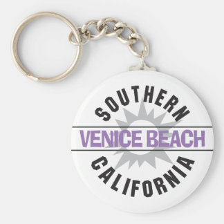 Playa de California meridional - de Venecia Llavero Redondo Tipo Pin