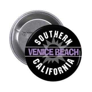 Playa de California meridional - de Venecia Pin Redondo De 2 Pulgadas