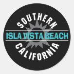 Playa de California meridional Isla Vista Etiqueta Redonda