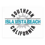 Playa de California meridional Isla Vista Tarjeta Postal