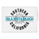 Playa de California meridional Isla Vista Tarjetas