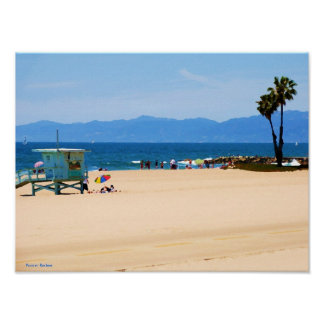 Playa de California pintada Póster