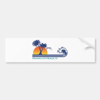 Playa de ciudad de Panamá Etiqueta De Parachoque