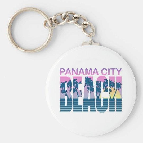 Playa de ciudad de Panamá Llavero Redondo Tipo Pin