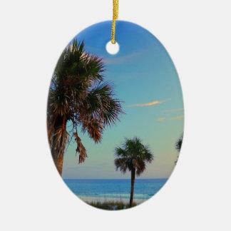 Playa de ciudad de Panamá palmeras de la Florida Adorno