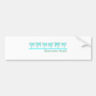 Playa de Clearwater, la Florida Etiqueta De Parachoque