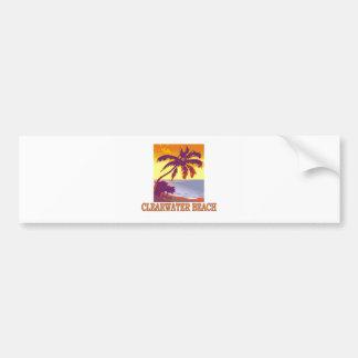 Playa de Clearwater, la Florida Pegatina De Parachoque