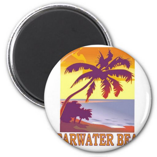 Playa de Clearwater, la Florida Imanes De Nevera