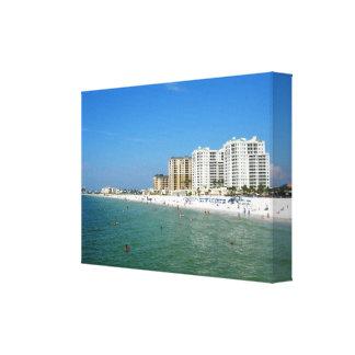 Playa de Clearwater, la Florida Impresión En Lona
