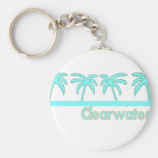 Playa de Clearwater, la Florida Llavero Redondo Tipo Pin