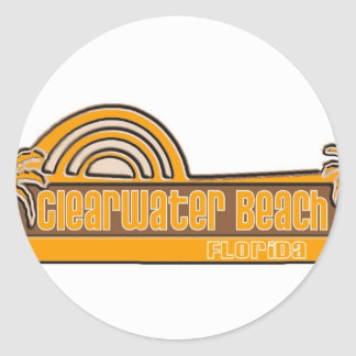 Playa de Clearwater, la Florida Pegatinas Redondas