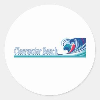 Playa de Clearwater, la Florida Etiquetas Redondas