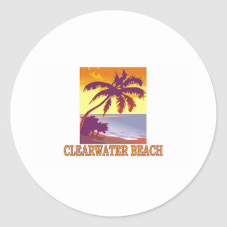 Playa de Clearwater, la Florida Etiqueta Redonda