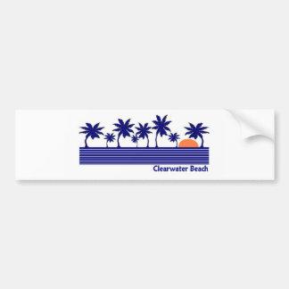 Playa de Clearwater, la Florida Pegatina Para Auto