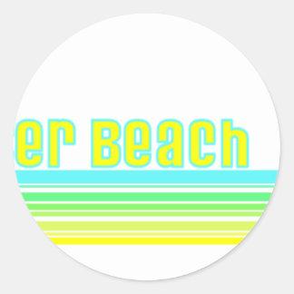 Playa de Clearwater, la Florida Pegatina Redonda