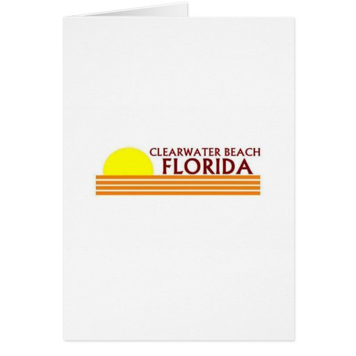 Playa de Clearwater, la Florida Tarjeta De Felicitación