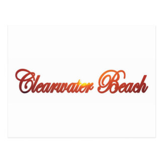 Playa de Clearwater, la Florida Tarjetas Postales