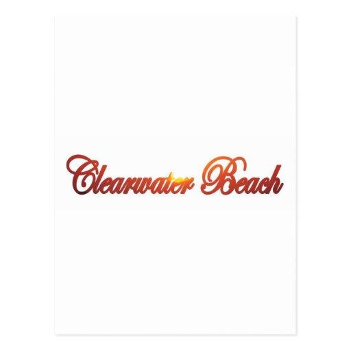 Playa de Clearwater, la Florida Tarjeta Postal