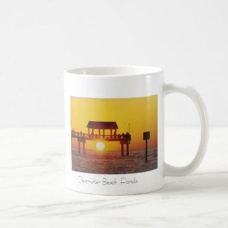 Playa de Clearwater taza de café de la Florida