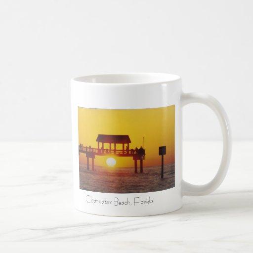 Playa de Clearwater, taza de café de la Florida