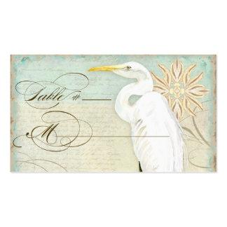 Playa de Coastal del Egret de la tarjeta del cubie Tarjetas Personales