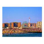 Playa de Coney Island - postal de NYC