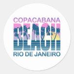 Playa de Copacabana Etiqueta Redonda