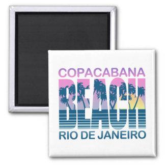 Playa de Copacabana Imán Cuadrado