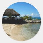 Playa de Cozumel Pegatina Redonda