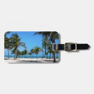 Playa de Crandon Etiquetas Maleta