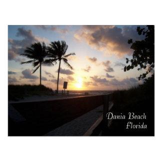 Playa de Dania, la Florida Tarjetas Postales