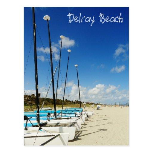 Playa de Delray Beach/de la Florida Postales