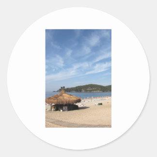 Playa de Deniz del Ola Pegatinas Redondas