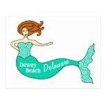 Playa de Dewey, DE Mermaid Tarjetas Postales