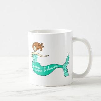 Playa de Dewey, DE Mermaid Tazas De Café