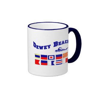 Playa de Dewey Tazas De Café