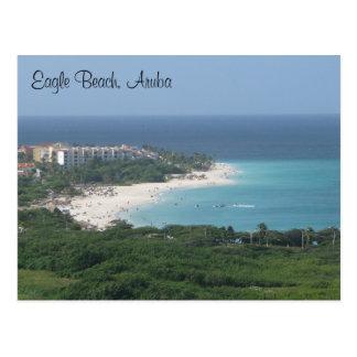 Playa de Eagle Aruba en la postal