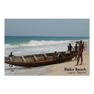 Playa de Eleko, Lagos, Nigeria Póster