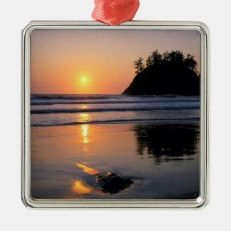 Playa de estado de Trinidad, California. LOS Adorno Navideño Cuadrado De Metal