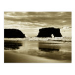 Playa de estado natural de los puentes tarjeta postal