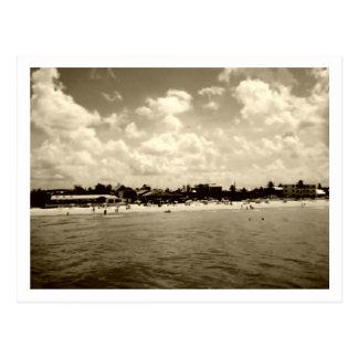 Playa de fuerte Myers del vintage Postales
