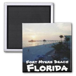Playa de fuerte Myers, la Florida Imán Cuadrado