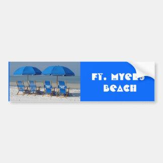 Playa de fuerte Myers Pegatina Para Auto