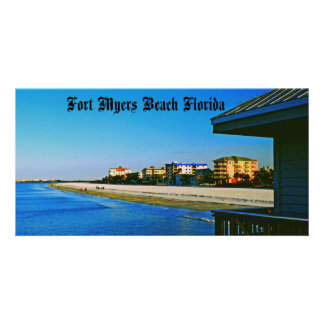 Playa de fuerte Myers Tarjeta Fotográfica