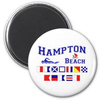Playa de Hampton, NH Imán Redondo 5 Cm