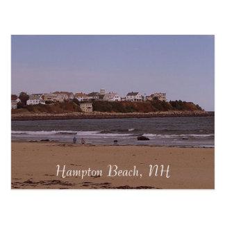 Playa de Hampton, NH Tarjeta Postal
