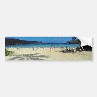 Playa de Hawaii de la bahía de Hanauma Pegatina Para Auto