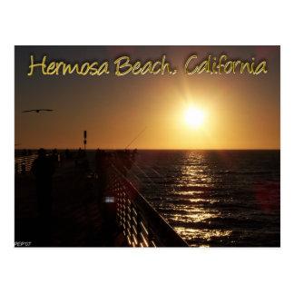 Playa de Hermosa, CA Tarjeta Postal