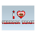 Playa de Hermosa, CA Tarjetas Postales