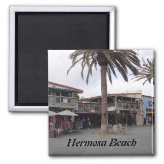 Playa de Hermosa, California Imán Cuadrado